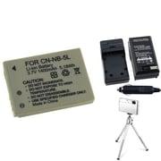 Insten® 361214 4-Piece DV Battery Bundle For PowerShot SD700/SD850/Canon NB-5L
