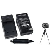 Insten® 361217 2-Piece DV Battery Charger Bundle For Olympus Li-40B/Nikon EN-EL10/Fuji NP-45