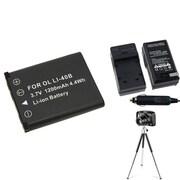 Insten® 361218 3-Piece DV Battery Bundle For Olympus Li-40B/Li-42B/Nikon EN-EL10/Fuji NP-45
