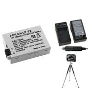 Insten® 361246 3-Piece DV Battery Bundle For EOS Rebel T2i/Canon LP-E8