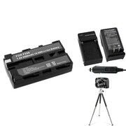 Insten® 361257 4-Piece DV Battery Bundle For Sony NP-F550/NP-F330/NP-F750/Sony NP-FM500H