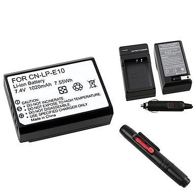 Insten® 369834 4-Piece DV Battery Bundle For DV Eos Rebel T3/Canon LP-E10