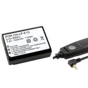 Insten® 369840 2-Piece DV Battery Bundle For Eos Rebel T3/Canon RS-60E3
