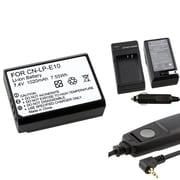 Insten® 369843 3-Piece DV Battery Bundle For Eos Rebel T3/Canon LP-E10/Canon RS-60E3