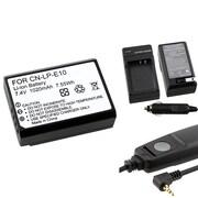 Insten® 369844 4-Piece DV Battery Bundle For DV Eos Rebel T3/Canon LP-E10/Canon RS-60E3