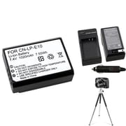 Insten® 369859 4-Piece DV Battery Bundle For DV Eos Rebel T3/Canon LP-E10