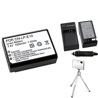 Insten® 369863 3-Piece DV Battery Bundle For Eos Rebel T3/Canon LP-E10
