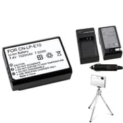 Insten® 369864 4-Piece DV Battery Bundle For DV Eos Rebel T3/Canon LP-E10