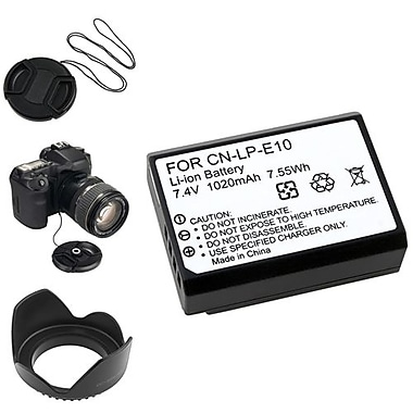Insten® 369875 4-Piece DV Battery Bundle For DV Eos Rebel T3