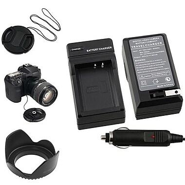 Insten® 369877 4-Piece DV Cap Bundle For 58 mm Filters/Adapters/Lens/Canon LP-E10 Battery