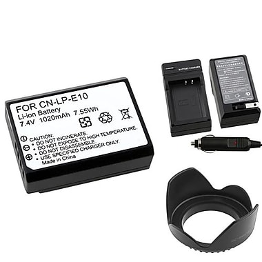Insten® 369884 4-Piece DV Battery Bundle For DV Eos Rebel T3/Canon LP-E10
