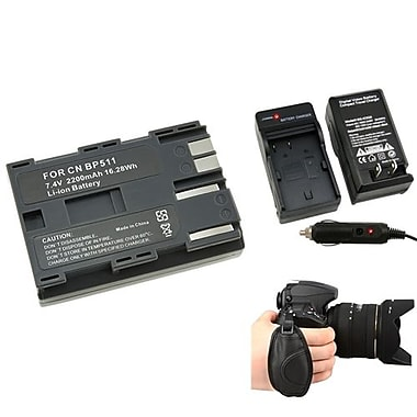 Insten® 377698 4-Piece DV Battery Bundle For Canon BP-511/Canon BP-511/Nikon/Canon/Pentax