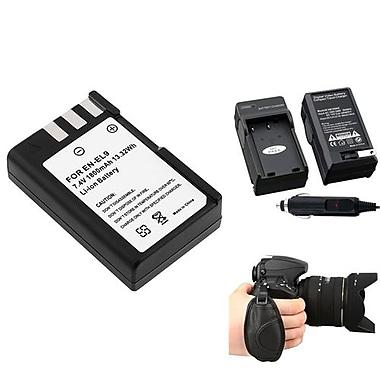 Insten® 377702 3-Piece DV Battery Bundle For D40/D40x/Nikon EN-EL9/Nikon/Canon/Pentax/Minolta/Fuji