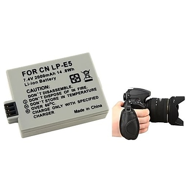 Insten® 377705 3-Piece DV Battery Bundle For EOS Rebel Xsi/Canon LP-E5
