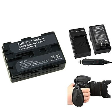 Insten® 377713 4-Piece DV Battery Bundle For Sony NP-FM500H/Alpha A850/Sony NP-FM30/NP-FM50/NP-FM70