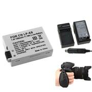 Insten® 377729 3-Piece DV Battery Bundle For EOS Rebel T2i/Canon LP-E8