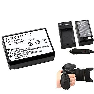 Insten® 377738 4-Piece DV Battery Bundle For DV Eos Rebel T3/Canon LP-E10