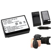Insten® 377738 4-Piece DV Battery Bundle For DV Eos Rebel T3/Canon LP-E10