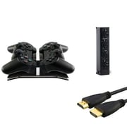 Insten® 384166 3-Piece Game Cable Bundle For Sony PS3 Controller
