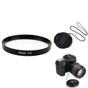 Insten® 385952 3-Piece DV Cap Bundle For 58 mm Lens and Filters/SLR Cameras