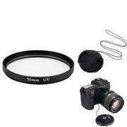 Insten® 385969 3-Piece DV Cap Bundle For 55 mm Lens and Filters/SLR Cameras