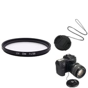 Insten® 385989 3-Piece DV Cap Bundle For 52 mm Lens and Filters/SLR Cameras