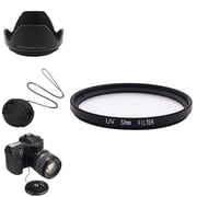 Insten® 385991 4-Piece DV Cap Bundle For 52 mm Filters/Adapters/Lens