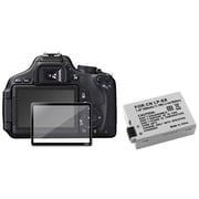 Insten® 393474 2-Piece DV Battery Bundle For Canon EOS 600D/EOS Rebel T2i