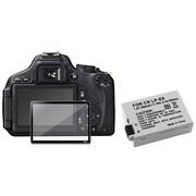 Insten® 393475 3-Piece DV Battery Bundle For Canon EOS 600D/EOS Rebel T2i