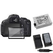 Insten® 393476 3-Piece DV Battery Bundle For Canon EOS 600D/EOS Rebel T2i/Canon LP-E8