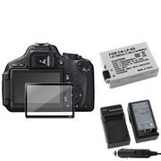Insten® 393477 4-Piece DV Battery Bundle For Canon EOS 600D/EOS Rebel T2i/Canon LP-E8