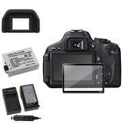 Insten® 393483 5-Piece DV Battery Bundle For Canon EOS 600D/Canon/EOS Rebel T2i/Canon LP-E8