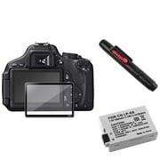 Insten® 393488 4-Piece DV Battery Bundle For Canon EOS 600D/EOS Rebel T2i