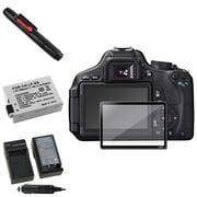 Insten® 393490 5-Piece DV Battery Bundle For Canon EOS 600D/EOS Rebel T2i/Canon LP-E8