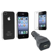 Insten® 418380 3-Piece iPhone Car Charger Bundle For Apple iPhone 4 AT&T/Verizon/iPhone 4S