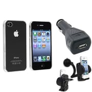 Insten® 418395 3-Piece iPhone Car Charger Bundle For Apple iPhone 4 AT&T/Verizon/iPhone 4S