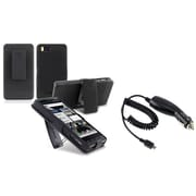 Insten® 424460 2-Piece Car Charger Bundle For Motorola Droid X2