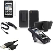 Insten® 424463 4-Piece Car Charger Bundle For Motorola Droid X2