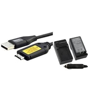 Insten® 429511 2-Piece DV Battery Charger Bundle For Samsung BP-70A/BP-85A/Samsung C-3