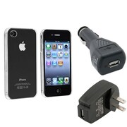 Insten® 430669 3-Piece iPhone Car Charger Bundle For Apple iPhone 4 AT&T/Verizon/iPhone 4S
