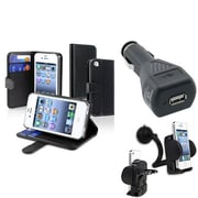 Insten® 441811 3-Piece iPhone Car Charger Bundle For Apple iPhone 4 AT&T/Verizon