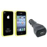 Insten® 481363 2-Piece iPhone Case Bundle For Apple iPhone 4/4S