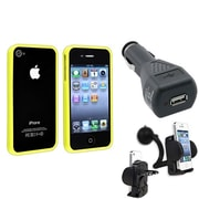 Insten® 481384 3-Piece iPhone Case Bundle For Apple iPhone 4/4S