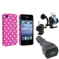 Insten® 494386 3-Piece iPhone Car Charger Bundle For Apple iPhone 4/4S