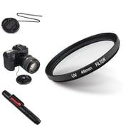 Insten® 507107 4-Piece DV Cap Bundle For 49 mm Filters/Adapters/Lens