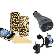 Insten® 588171 3-Piece iPhone Car Charger Bundle For Apple iPhone 4/4S