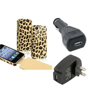 Insten® 598771 3-Piece iPhone Car Charger Bundle For Apple iPhone 4/4S