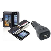 Insten® 674262 2-Piece Car Charger Bundle For Apple iPhone 4/4S
