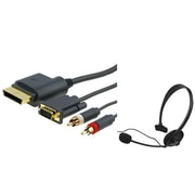 Insten® 697635 2-Piece Game Cable Bundle For Microsoft Xbox 360