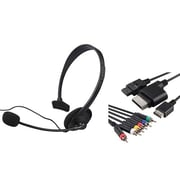 Insten® 697648 2-Piece Game Cable Bundle For Microsoft Xbox 360